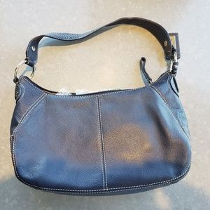 Navy Blue Pink Lable Leather Purse